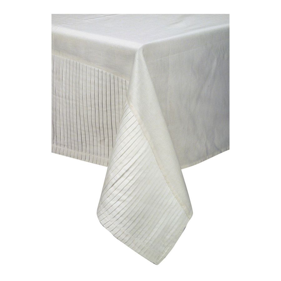 Nappe en coton et lin 260x170 blanc interior 39 s - Nappe en coton blanc ...