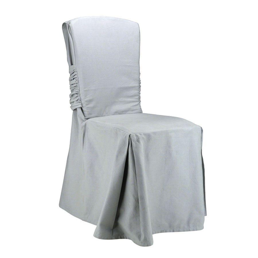 housse de chaise en coton h92 blanc interior 39 s. Black Bedroom Furniture Sets. Home Design Ideas