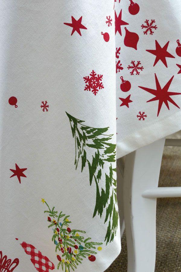 nappe en coton et lin 260x160 rouge interior 39 s. Black Bedroom Furniture Sets. Home Design Ideas