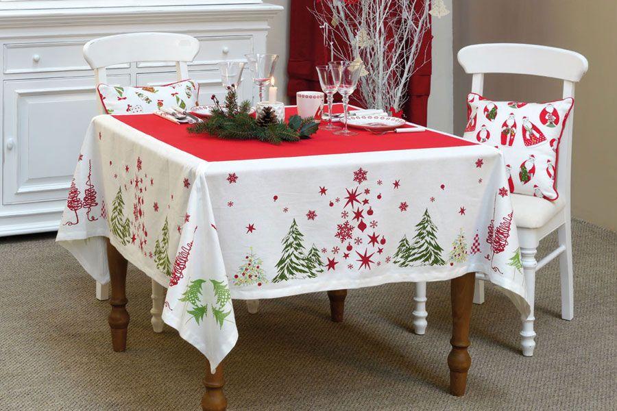 nappe en coton et lin 160x160 rouge interior 39 s. Black Bedroom Furniture Sets. Home Design Ideas