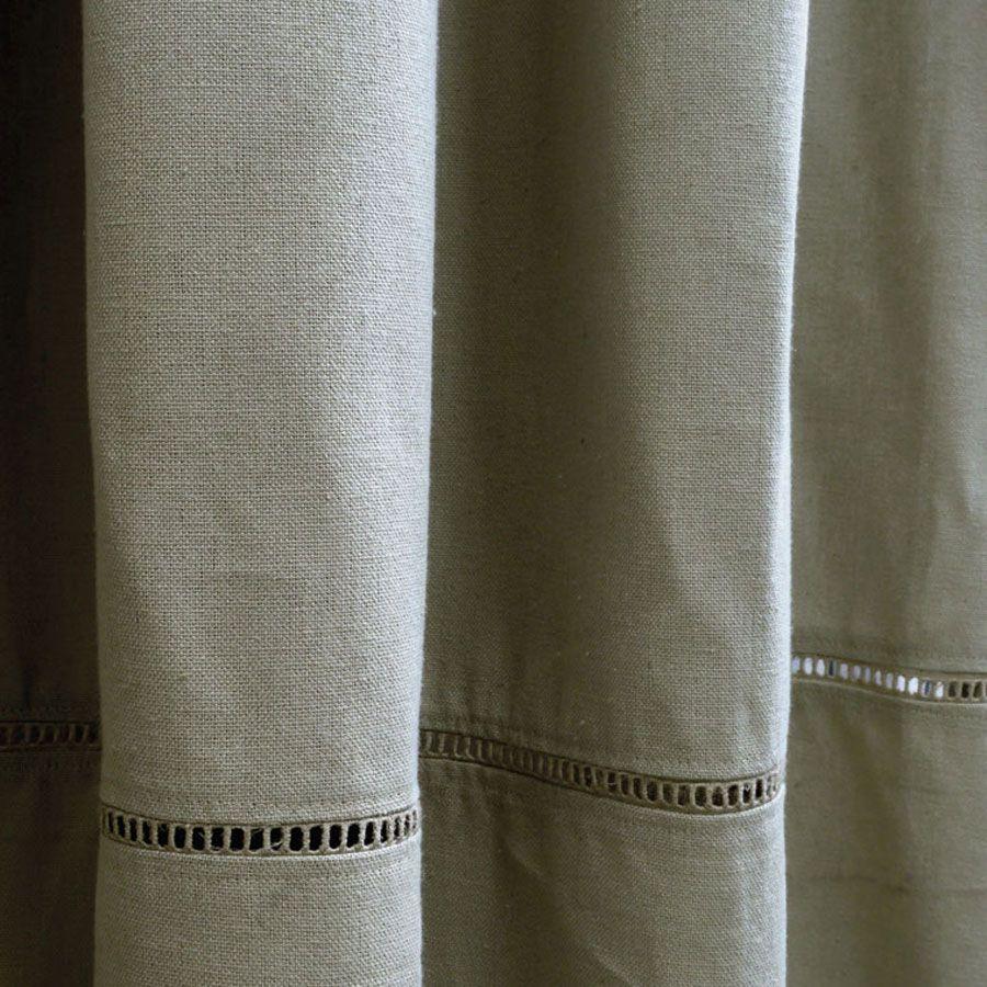 rideau en coton et lin 150x250 gris interior 39 s. Black Bedroom Furniture Sets. Home Design Ideas