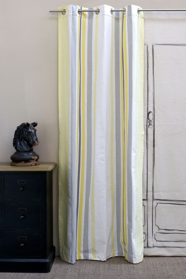 rideau en coton et lin 110x250 motifs interior 39 s. Black Bedroom Furniture Sets. Home Design Ideas