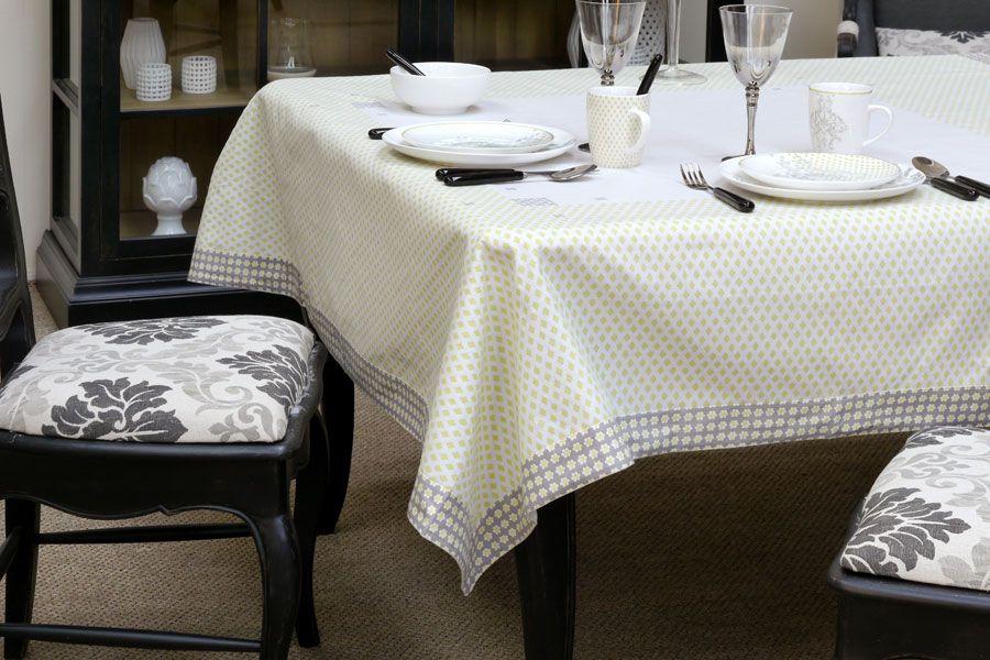 nappe en coton et lin 160x160 motifs interior 39 s. Black Bedroom Furniture Sets. Home Design Ideas