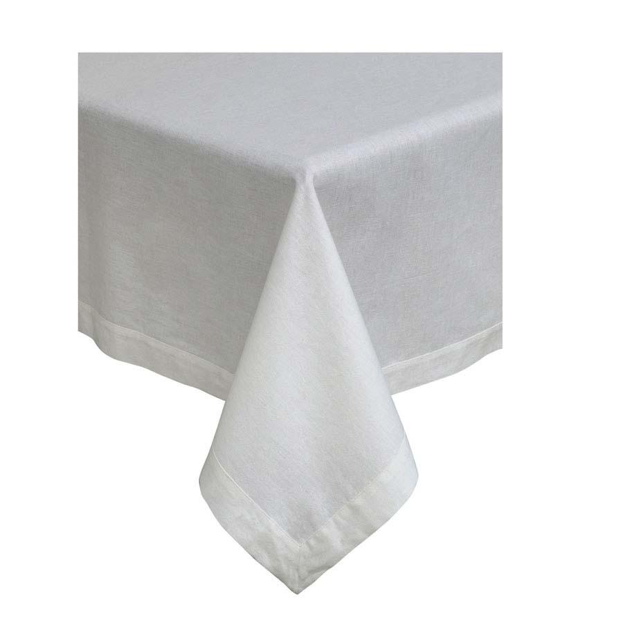nappe en coton et lin 180x180 blanc interior 39 s. Black Bedroom Furniture Sets. Home Design Ideas