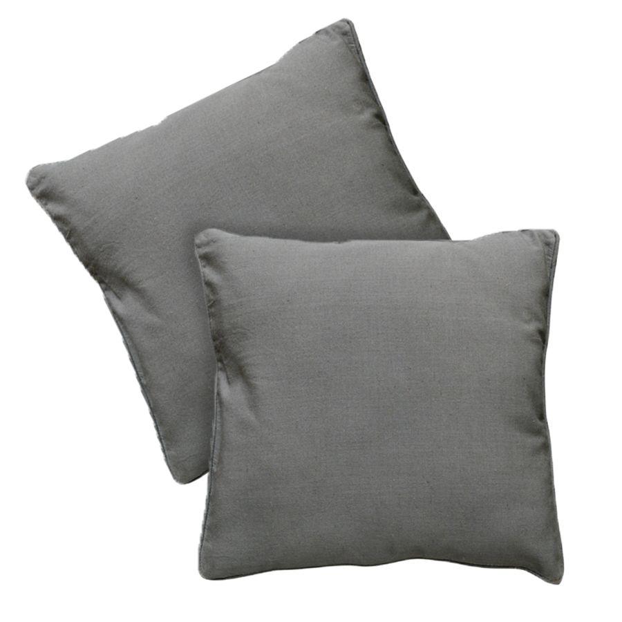 housses de coussins en coton et lin 40x40 lot de 2 gris interior 39 s. Black Bedroom Furniture Sets. Home Design Ideas