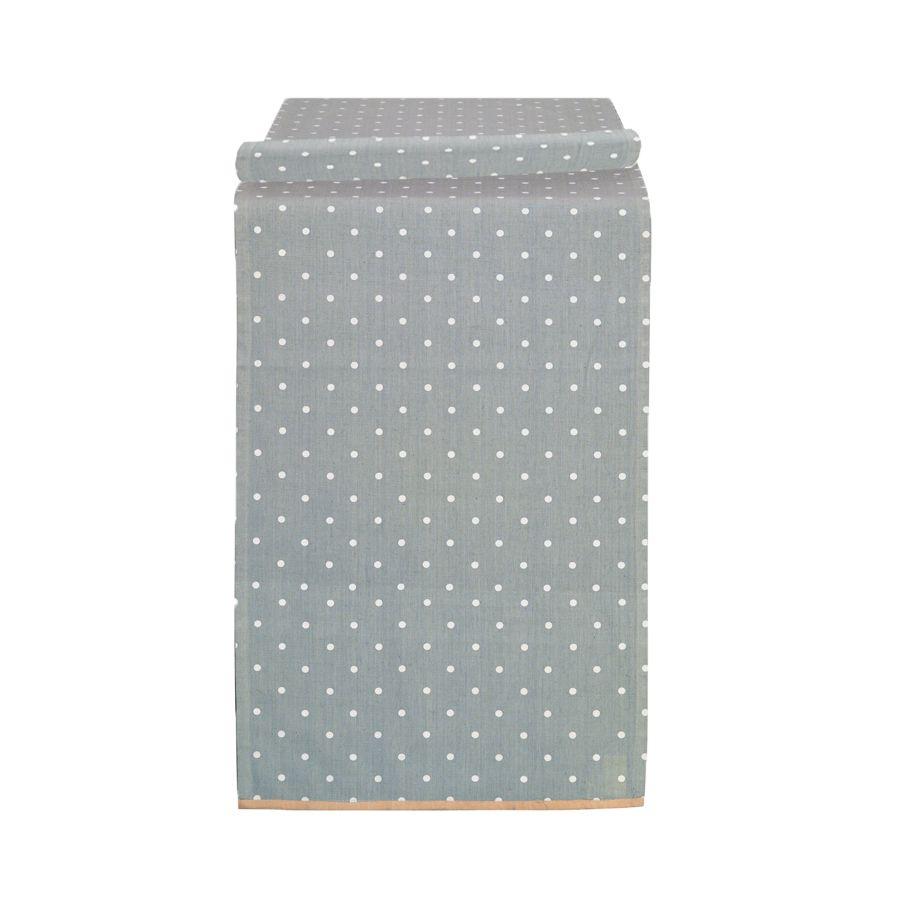 Chemins de table en coton et lin 180x50 lot de 2 gris - Chemin de table gris ...