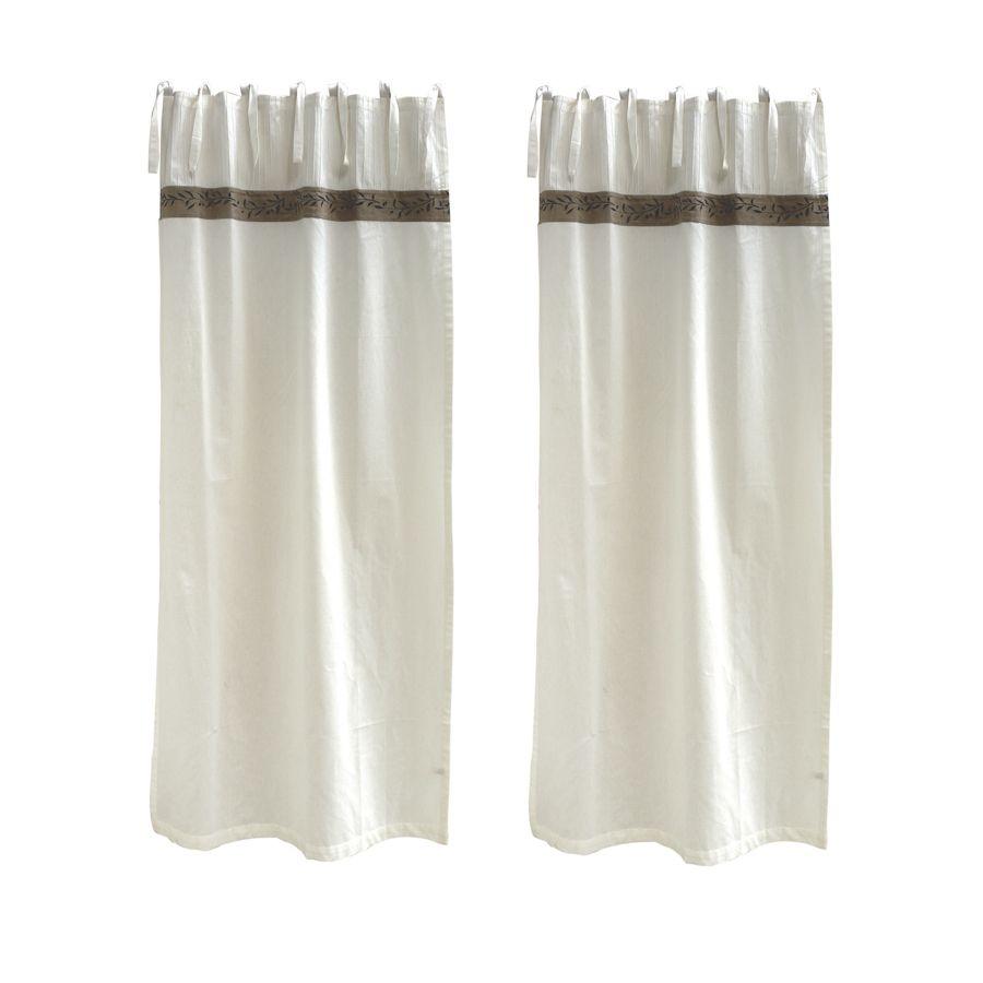 Rideaux en coton et lin 110x250 lot de 2 blanc interior 39 s for Soldes rideaux lin