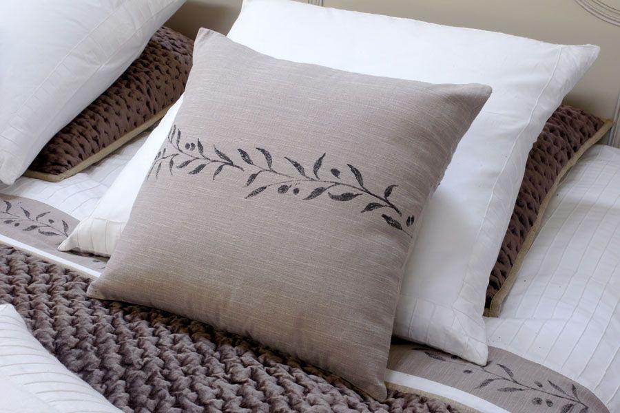 housses de coussins en coton et lin 40x40 lot de 2 naturel interior 39 s. Black Bedroom Furniture Sets. Home Design Ideas