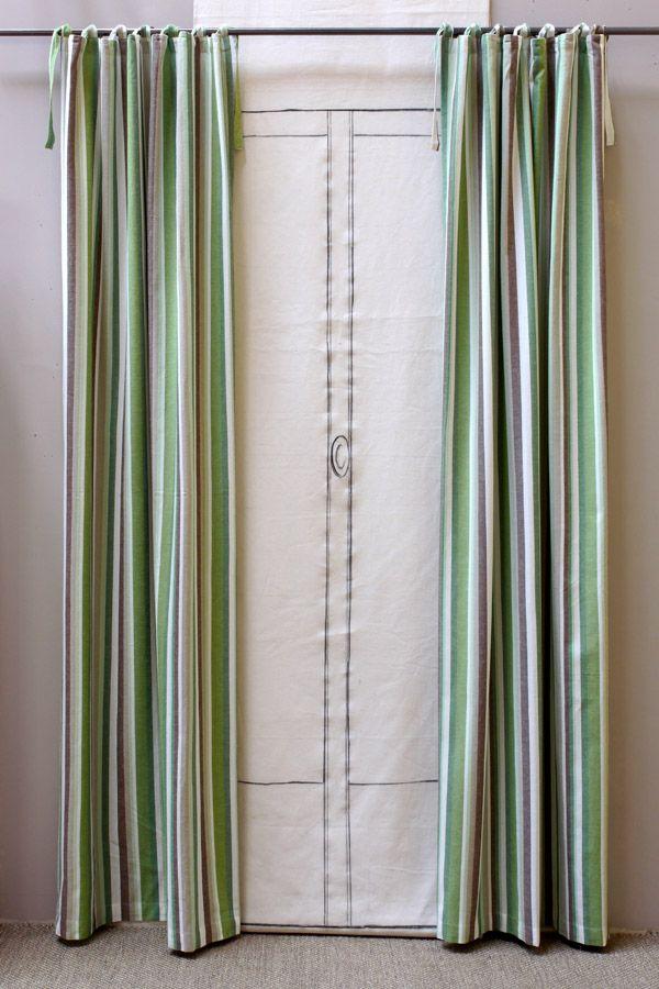 Rideaux en coton et lin 110x250 lot de 2 vert interior 39 s - Rideaux en lin beige ...