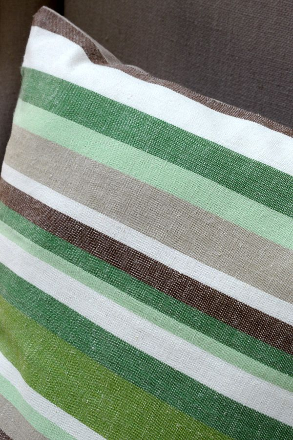 housses de coussins en coton et lin 40x40 lot de 2 vert interior 39 s. Black Bedroom Furniture Sets. Home Design Ideas