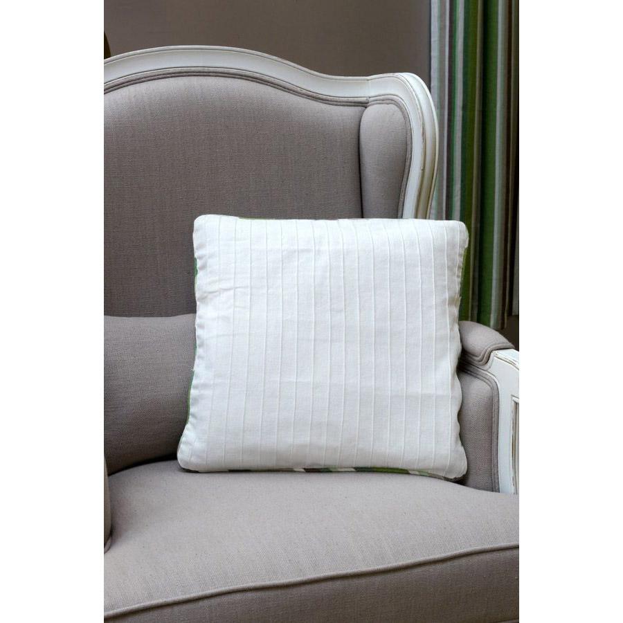 housses de coussins en coton et lin 40x40 lot de 2 blanc interior 39 s. Black Bedroom Furniture Sets. Home Design Ideas