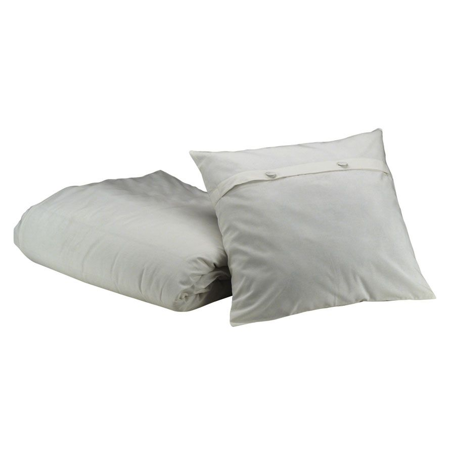 housse de couette 1 taie d 39 oreiller en coton 140x200 blanc interior 39 s. Black Bedroom Furniture Sets. Home Design Ideas