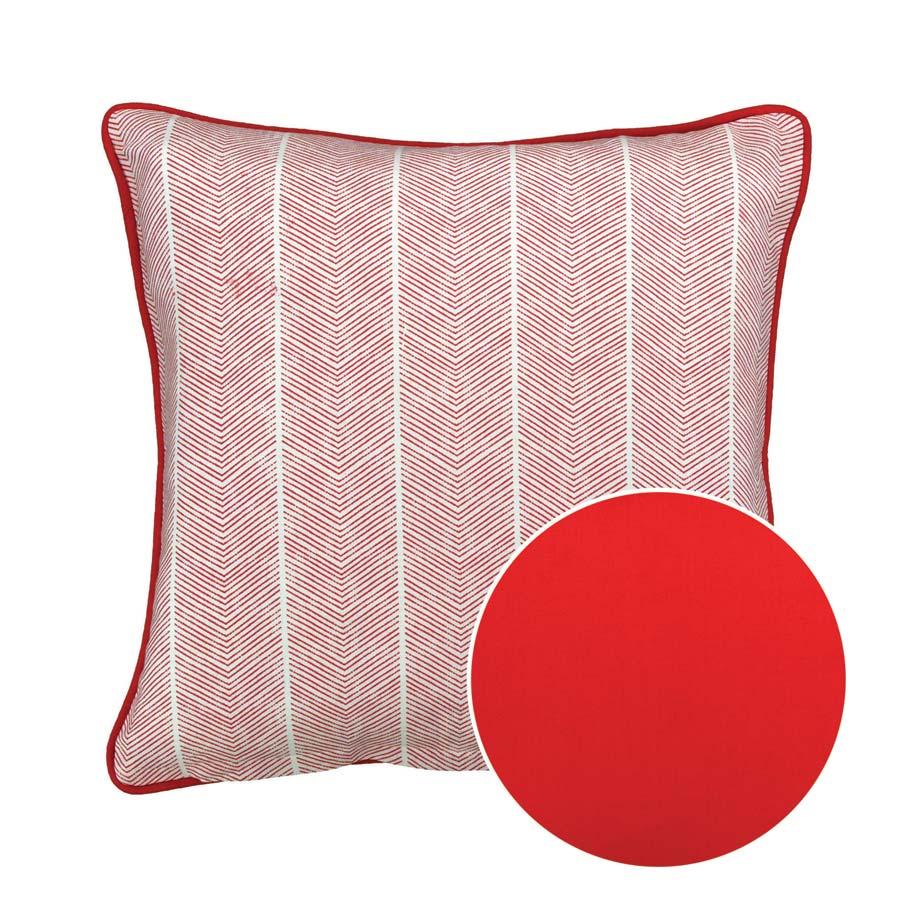 Housse de coussin en coton 40x40 rouge interior 39 s for Housse de coussin original