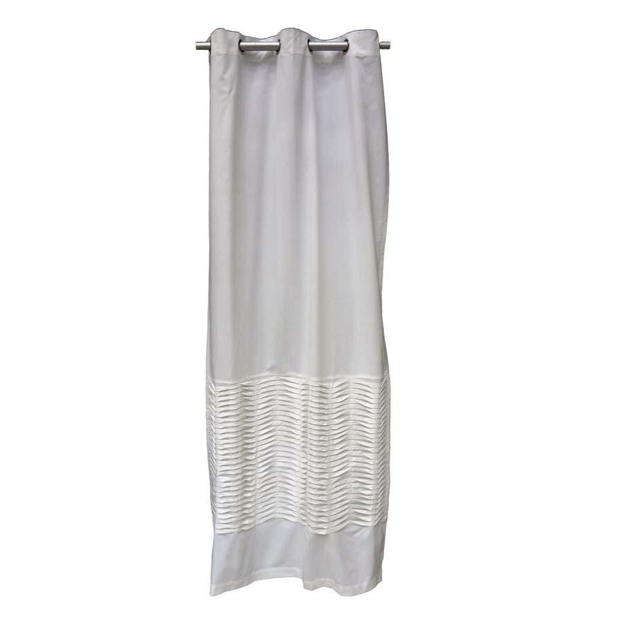 rideau en coton 110x250 blanc interior 39 s. Black Bedroom Furniture Sets. Home Design Ideas