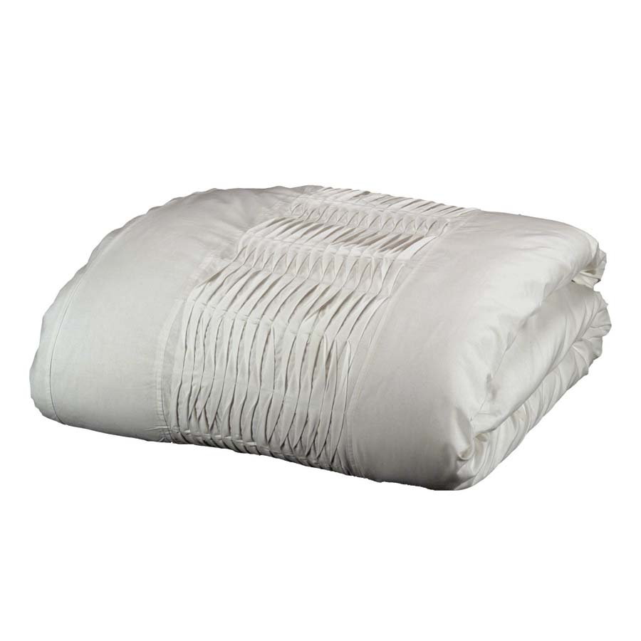 Housse de couette en coton 240x260 blanc interior 39 s for Housse de couette 240x260 coton