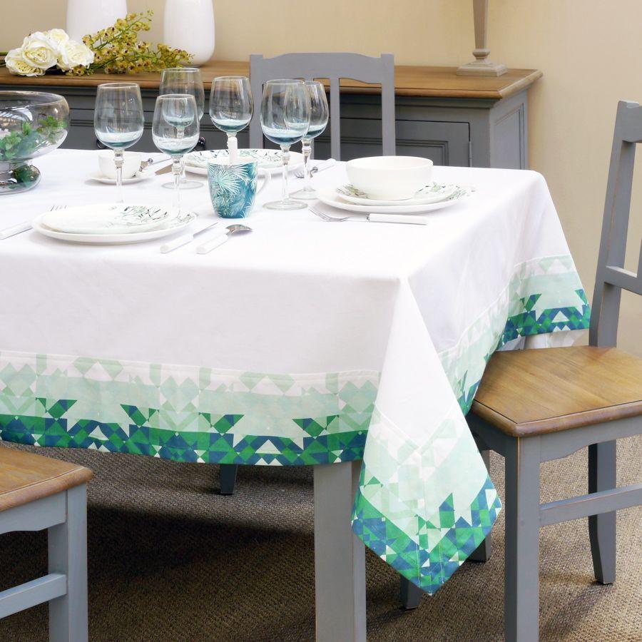 nappe en coton 160x160 vert interior 39 s. Black Bedroom Furniture Sets. Home Design Ideas