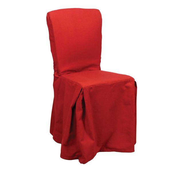 housse de chaise en coton et lin h92 rouge interior 39 s. Black Bedroom Furniture Sets. Home Design Ideas