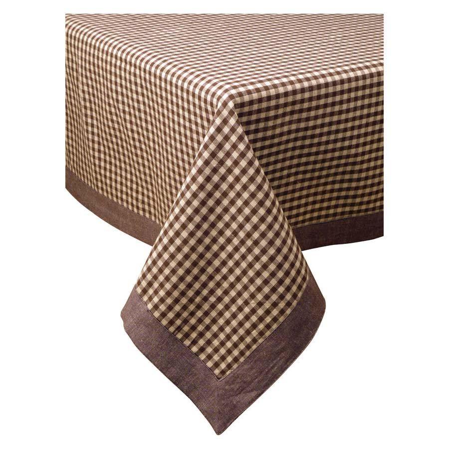 Nappe Motif Bois : Nappe motif vichy chocolat 160×160 – D?coration – Interior's