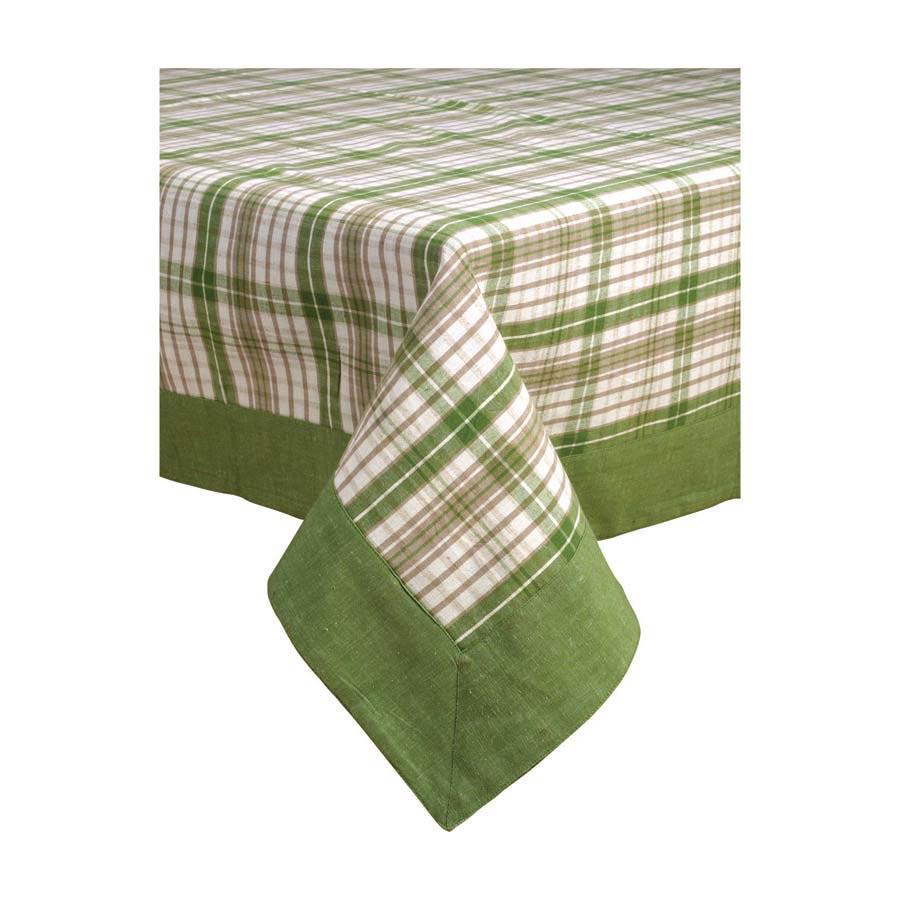 Nappe Motif Bois : Nappe motif ?cossais vert 280×180 – D?coration – Interior's