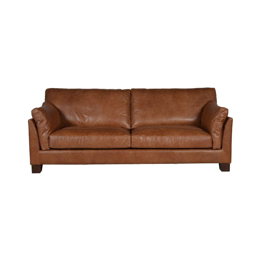 Canap cuir canberra marron interior 39 s for Canape cuir bordeaux 2 places