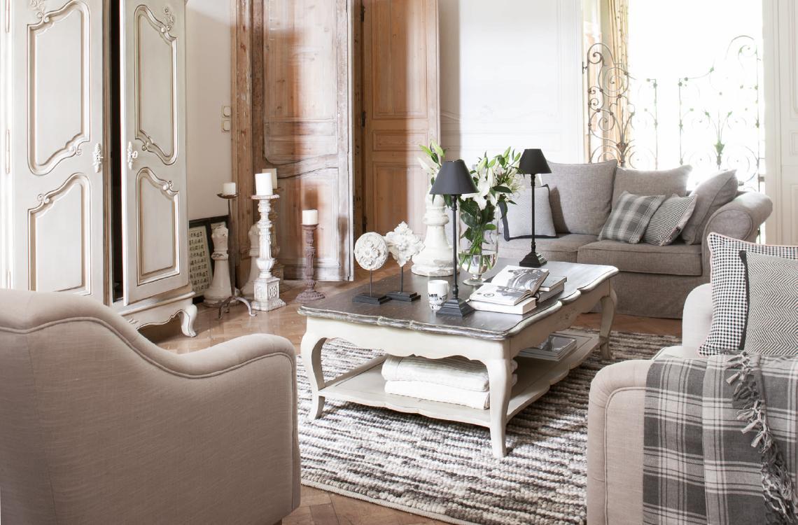 Mobilier style classique charme collections de meubles patin s contemporains interior 39 s - Decor de charme ...