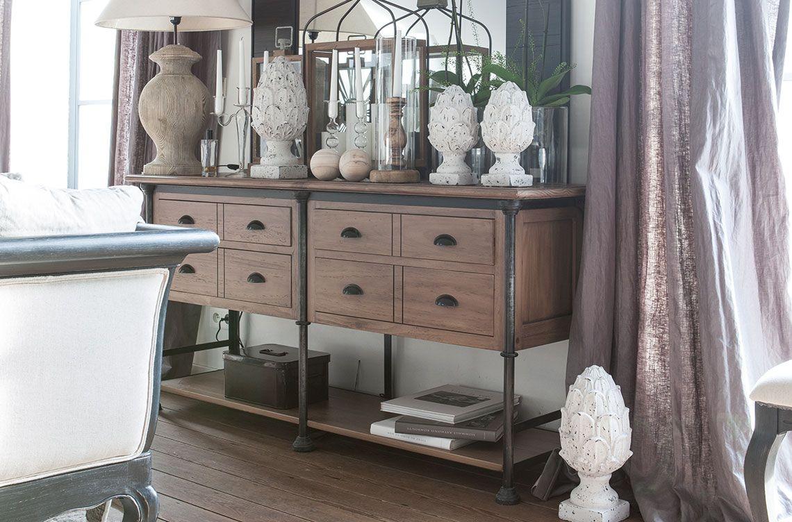Mobilier style néo industriel : collections de meubles patinés