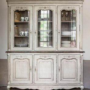 Buffet vaisselier 3 portes vitr es beige interior 39 s for Meuble country corner