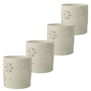 Photophores en porcelaine blancs (lot de 4)