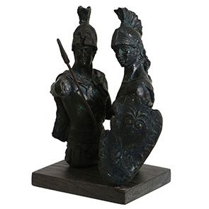 Statuette duo de gladiateurs