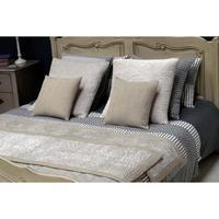 housse de coussin en coton et viscose 60x60 beige interior 39 s. Black Bedroom Furniture Sets. Home Design Ideas