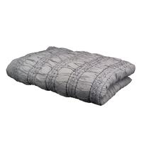 Plaid gris finition tissée 130x180