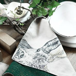 Sets de table réversibles en coton et lurex (lot de 2)