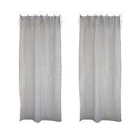 Voilages en coton 110x250 (lot de 2)