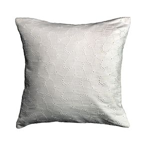 Housse de coussin broderie anglaise 40x40