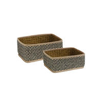 Lot de 2 paniers tressés PM+GM