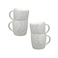 Tasses expresso Flocons et Dentelles (lot de 4)