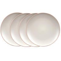 Assiettes plates en grès (lot de 4)