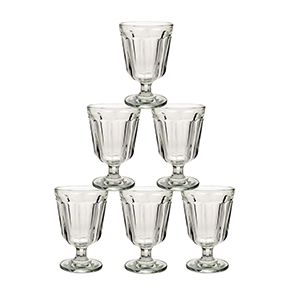 Verres à pied court transparents (lot de 6)