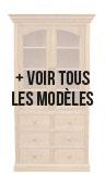 Bibliothèques ouvertes 6 tiroirs 100 cm - Bibliothèques - Natural