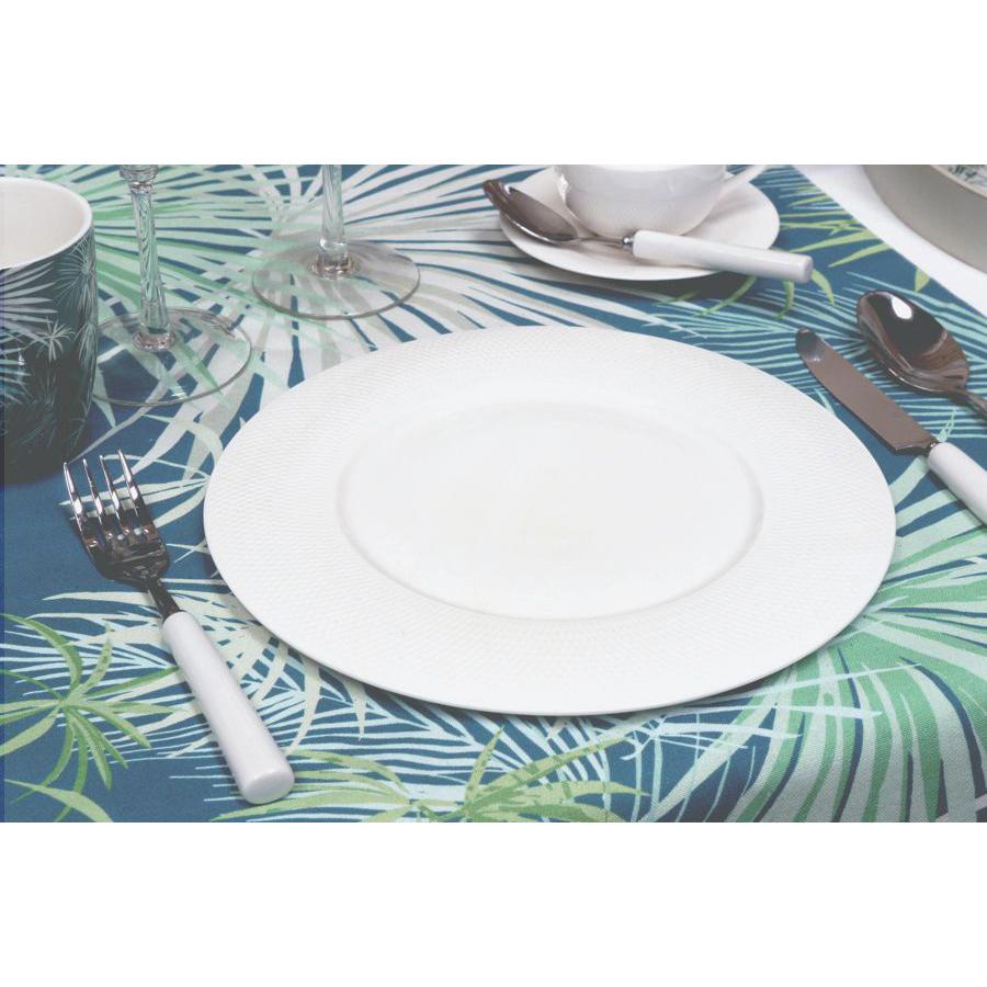 assiettes plates en porcelaine lot de 4 blanc interior 39 s. Black Bedroom Furniture Sets. Home Design Ideas