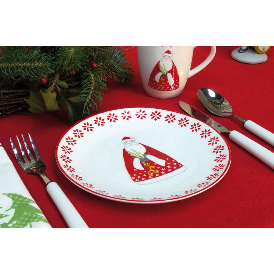 Assiette dessert en c ramique rouge interior 39 s - Decoration assiette dessert ...