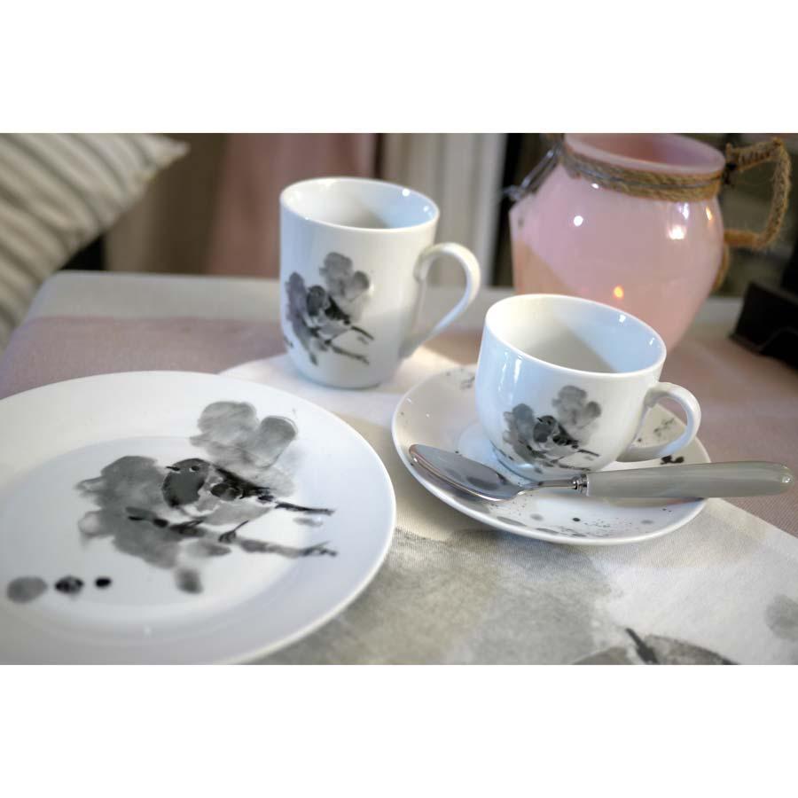 mug en porcelaine gris interior 39 s. Black Bedroom Furniture Sets. Home Design Ideas