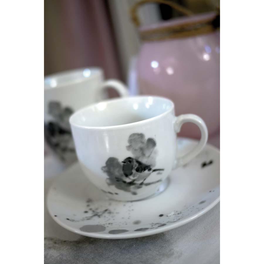 tasse th en porcelaine gris interior 39 s. Black Bedroom Furniture Sets. Home Design Ideas