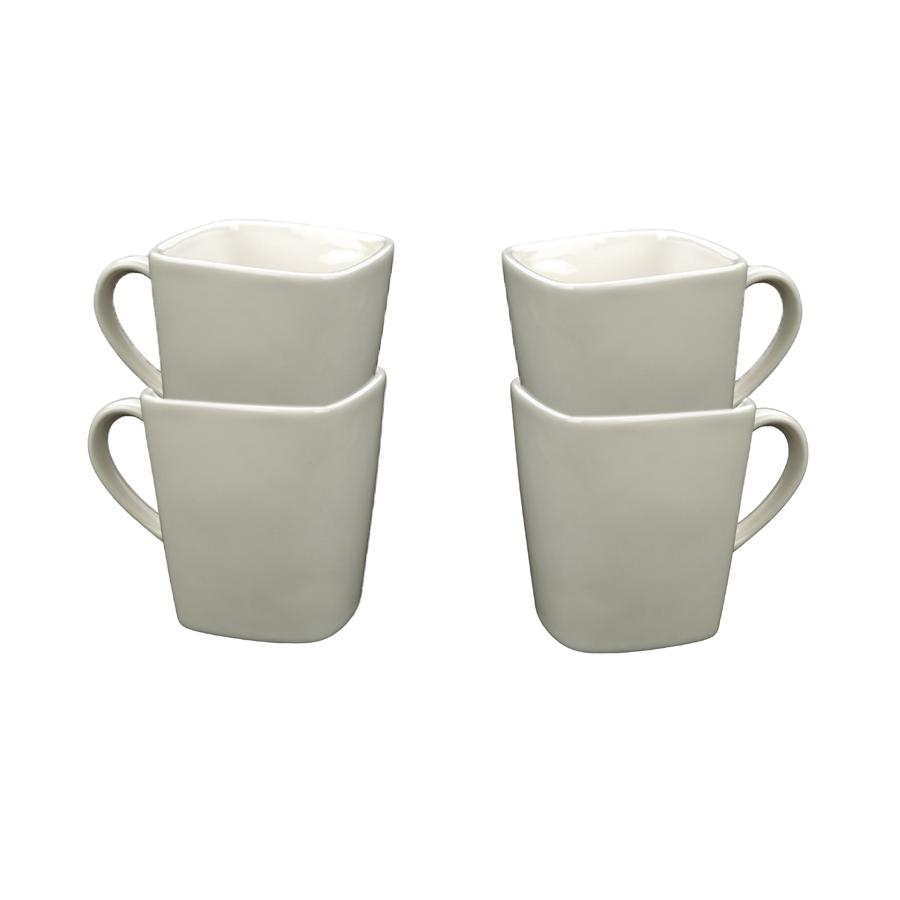 mugs en porcelaine lot de 4 blanc interior 39 s. Black Bedroom Furniture Sets. Home Design Ideas