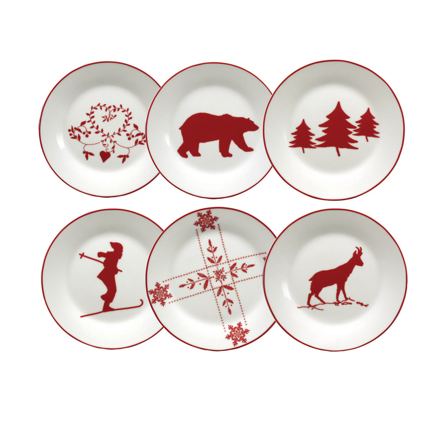 Assiette dessert en porcelaine rouge interior 39 s for Assiette de decoration