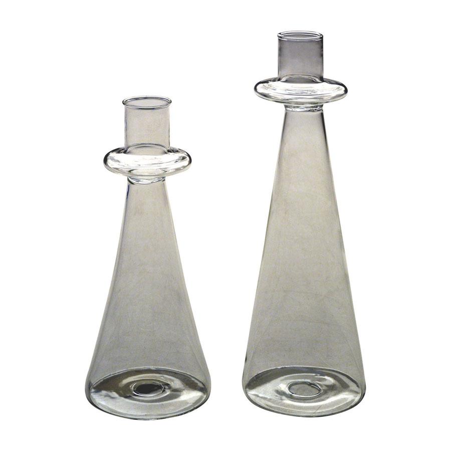 bougeoirs en verre transparents lot de 2 autre interior 39 s. Black Bedroom Furniture Sets. Home Design Ideas