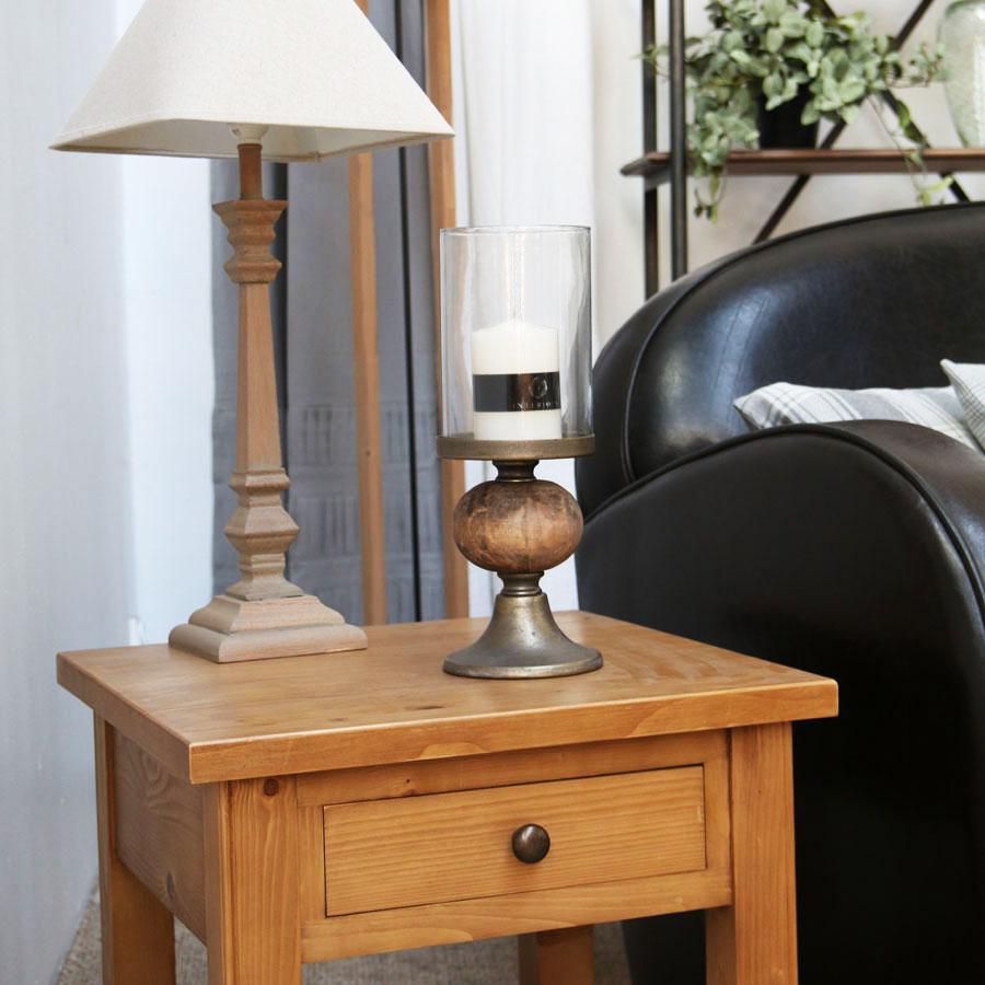 photophore en bois et m tal noir interior 39 s. Black Bedroom Furniture Sets. Home Design Ideas