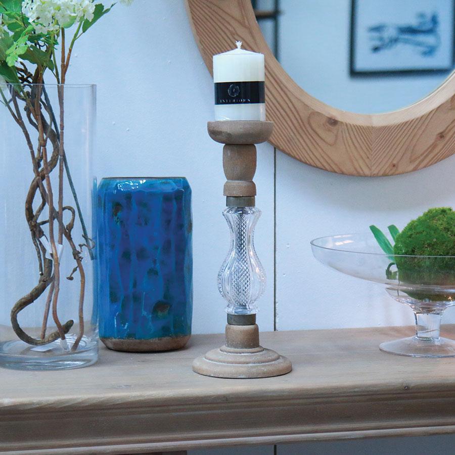 bougeoir en bois et verre naturel interior 39 s. Black Bedroom Furniture Sets. Home Design Ideas