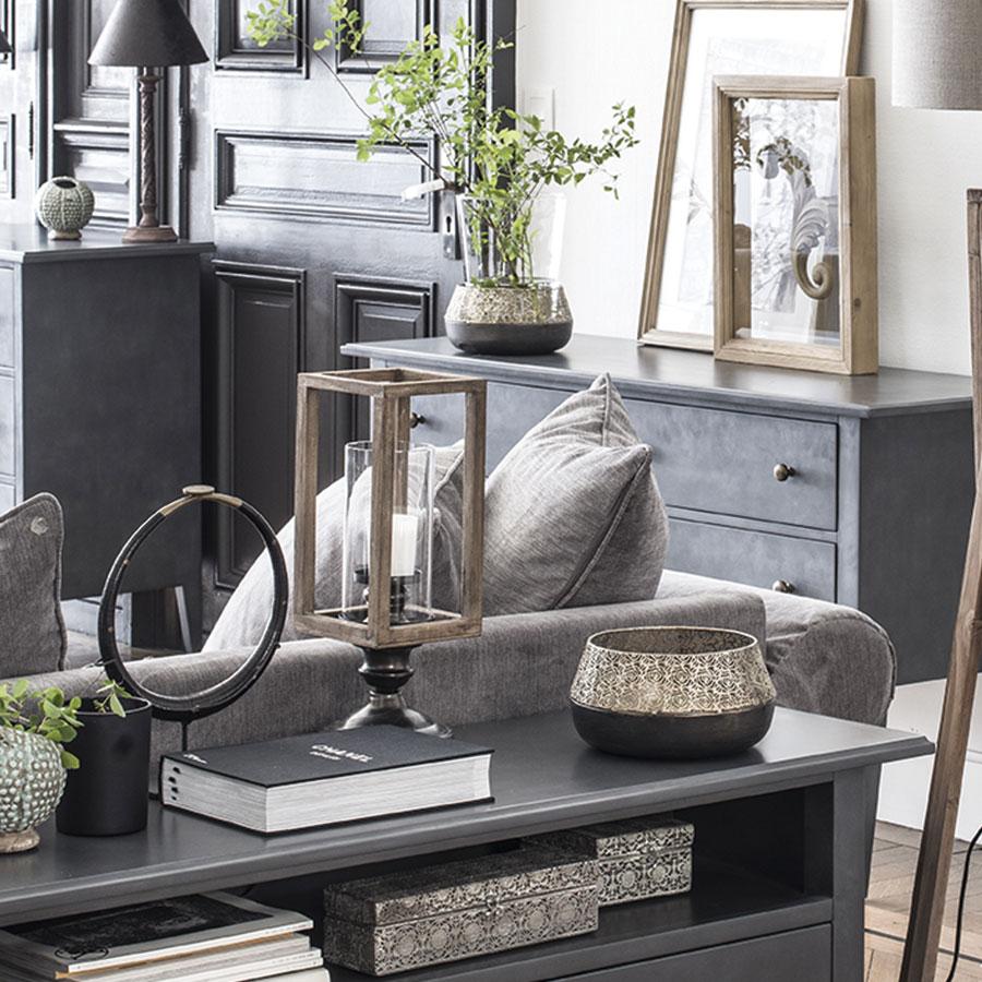 photophore en bois et m tal naturel interior 39 s. Black Bedroom Furniture Sets. Home Design Ideas