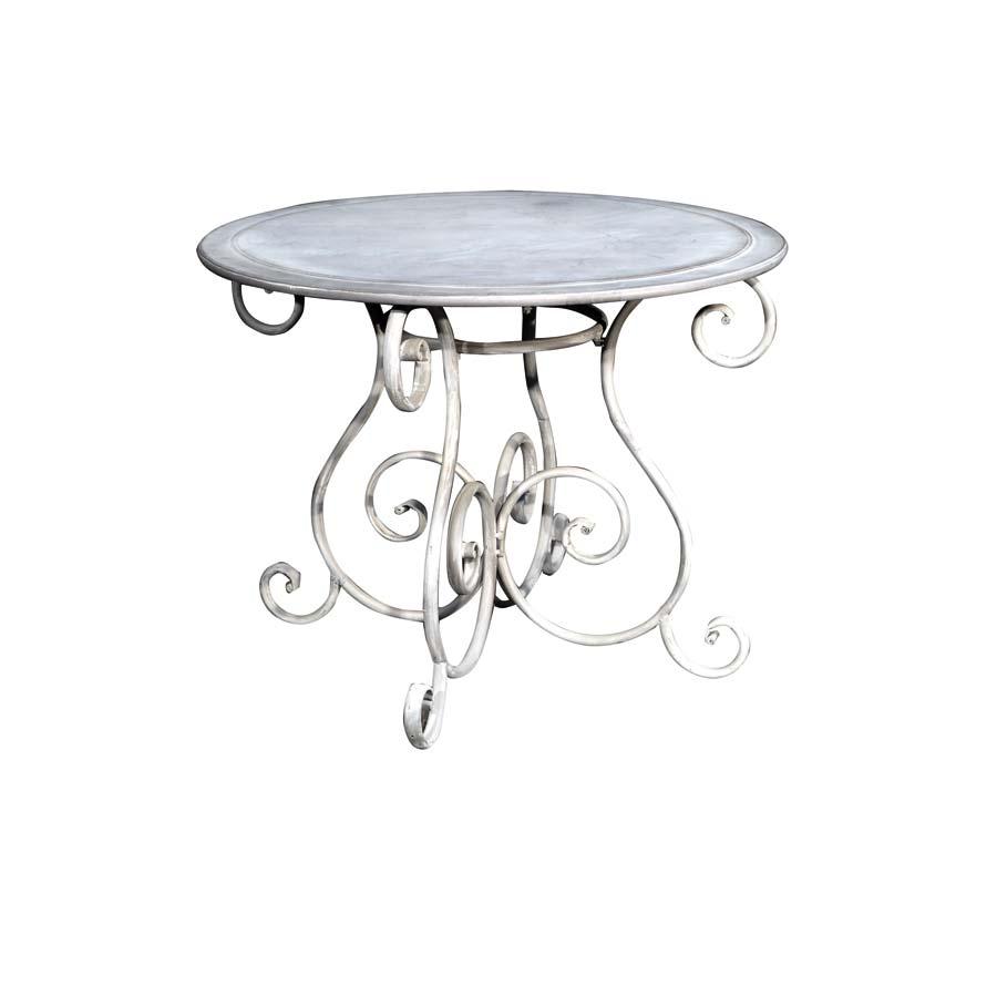 table ronde gris interior 39 s. Black Bedroom Furniture Sets. Home Design Ideas